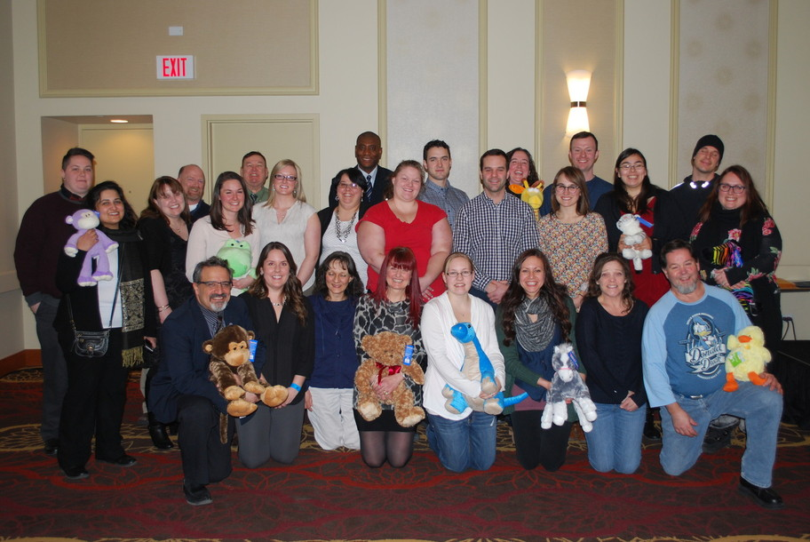 New Teachers officially welcomed to Northland School Division at Teacher Appreciation Night February 11, 2015. Teachers donated stuffed toys, as you can see in the photo, to the Stollery Children's Hospital in Edmonton!