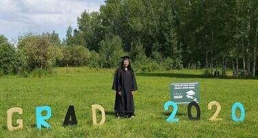 Kaylynn Piper, a grade 12 graduate from Paddle Prairie School